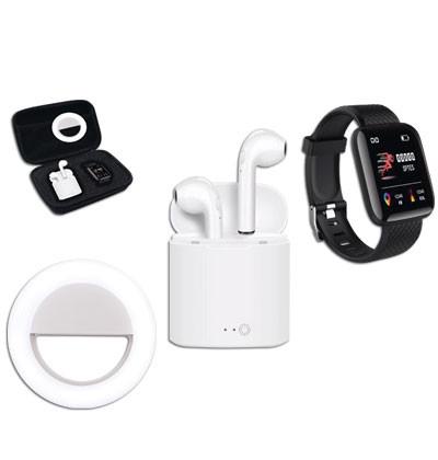 74 - Valisette montre, écouteurs et flash